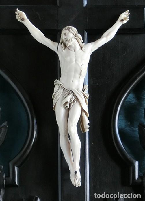 Arte: ANTIGUO Y EXTRAORDINARIO CRISTO DE MARFIL - CORNUCOPIA ESTILO LUIS XV - CONJUNTO ESCULTÓRICO - Foto 31 - 236156040