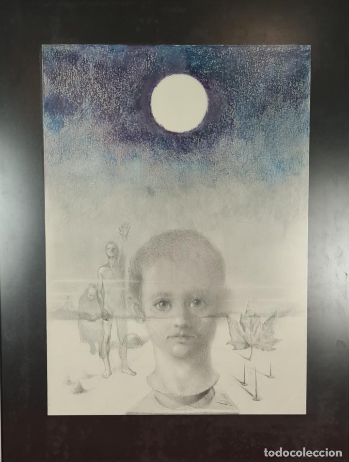ABSTRACTO. FIRMADO PERE. LITOGRAFÍA SOBRE PAPEL. 1968. (Arte - Arte Religioso - Litografías)