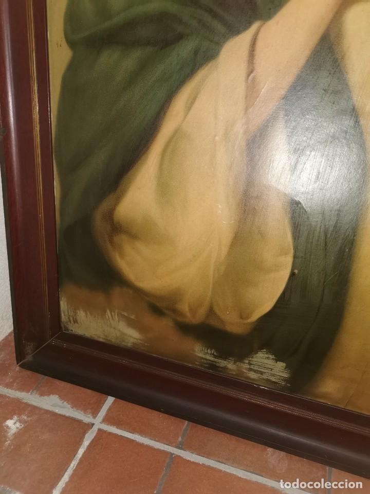 Arte: Gran cuadro de lámina, Inmaculada, años 30-40 - Foto 4 - 236330995