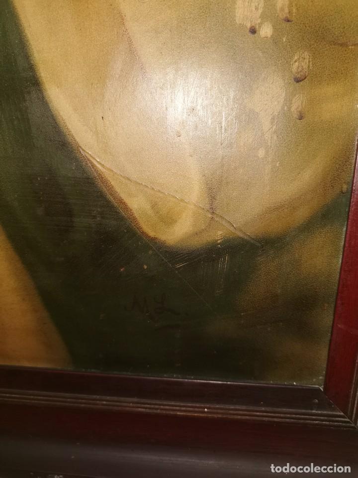 Arte: Gran cuadro de lámina, Inmaculada, años 30-40 - Foto 5 - 236330995
