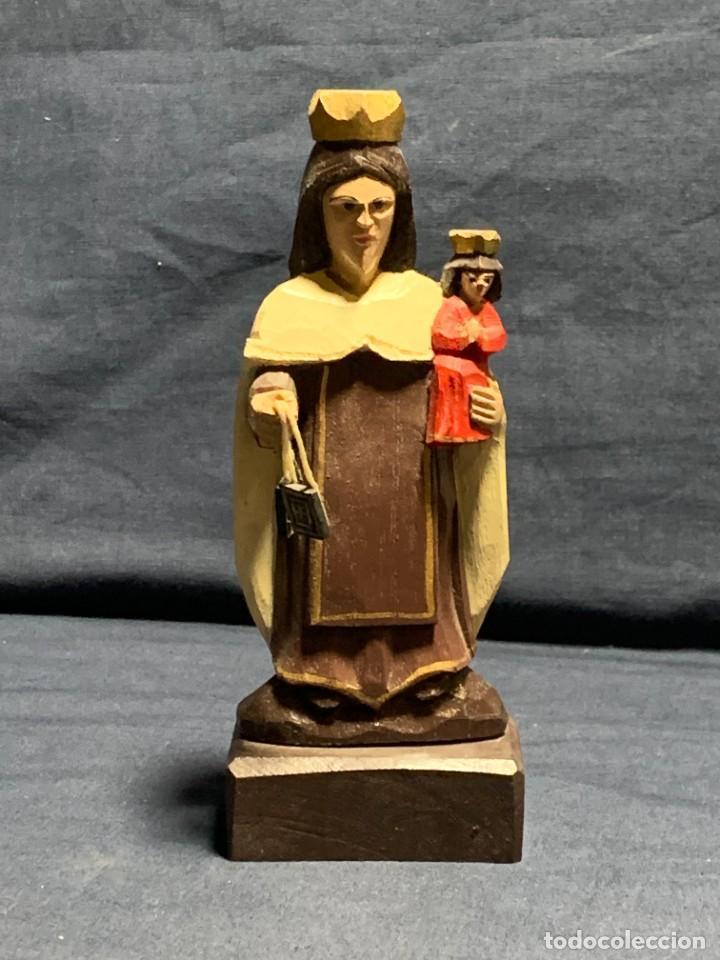 VIRGEN DEL CARMEN TALLA EN MADERA ANTONIO AVILES OROCONIS PUERTO RICO AÑO 200016X6C (Arte - Arte Religioso - Escultura)