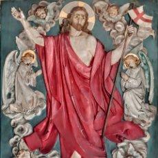 Arte: RETABLO RELIGIOSO EN MADERA DE ROBLE .. Lote 236349875
