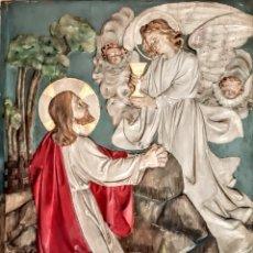 Arte: RETABLO RELIGIOSO EN MADERA DE ROBLE .. Lote 236350635