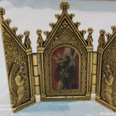 Arte: PRECIOSO TRÍPTICO DE BRONCE PADRE JESÚS NAZARENO JUMILLA. Lote 236449015