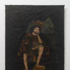 Arte: CUADRO AL OLEO RELIGIOSO SOBRE EL AÑO 1890. Lote 236629305