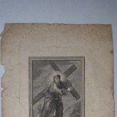 Arte: MUY ANTIGUO GRABADO JESUS NAZARENO FRANCISCO JORDAN 1799. Lote 252915290