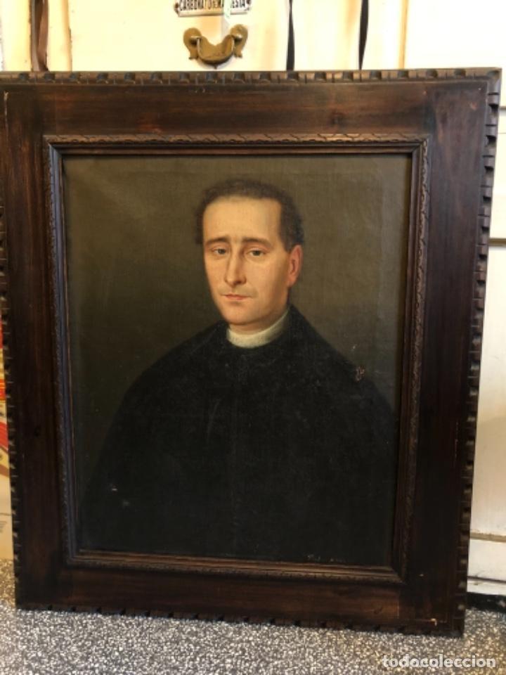 Arte: Cuadro óleo retrato religioso pintura arte siglo xix - Foto 2 - 236651280