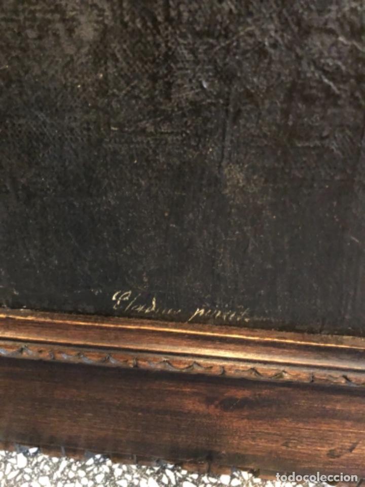 Arte: Cuadro óleo retrato religioso pintura arte siglo xix - Foto 3 - 236651280