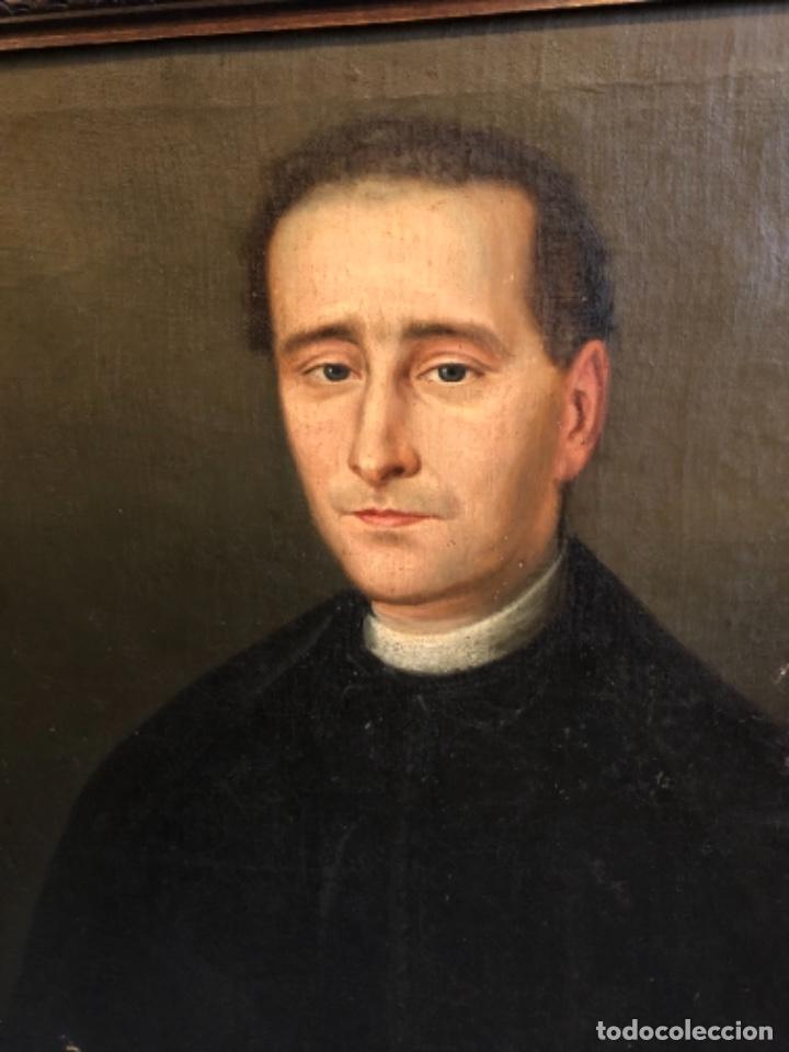 Arte: Cuadro óleo retrato religioso pintura arte siglo xix - Foto 5 - 236651280