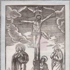 Arte: GRABADO DE JESUCRISTO EN LA CRUZ. PRINCIPIOS DE SIGLO XIX DE FRANCISCO IFERN I ORIOL. Lote 236694020