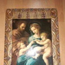 Art: CUADRO RELIGIOSO DE LAMINA SOBRE MADERA. VER DESCRIPCIÓN. Lote 236866340