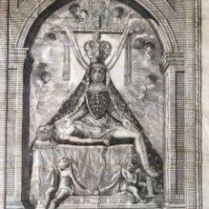 Arte: ANTIGUO GRABADO DE LA VIRGEN DE LAS ANGUSTIAS. ( 1835 ). MARCO MUY ANTIGUO. Lote 236876540