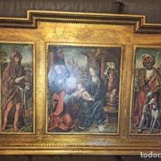 Arte: TRIPTICO RELIGIOSO ADORACIÓN DEL TRÍPTICO DE LOS REYES MAGOS. Lote 237020900
