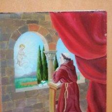 Arte: SAN ANTONIO DE PADUA, CRISTAL PINTADO POR SU REVERSO FINALES S.XIX PRINCIPIOS S.XX. 21X17 CM.. Lote 237033300