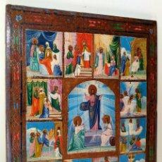 Arte: ICONO GRIEGO. RESURRECCIÓN DE JESUS. ÓLEO SOBRE TABLA. GRECIA (?). SIGLO XIX.. Lote 237038495