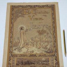 Arte: LA CRISTIADA VIDA DE JESUS - ILUSTRACIÓN DE PORTADA PELLICER BARCELONA 1895 GONZALEZ Y CIA EDITORES. Lote 237163520
