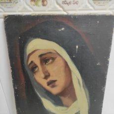 Arte: PINTURA DE LA VIRGEN MARÍA SOBRE LIENZO?. Lote 237285015