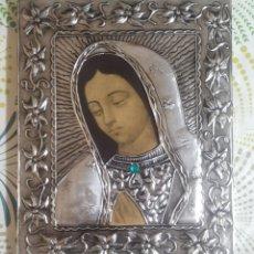 Arte: HERMOSA VIRGEN, ARTESANAL,MADERA Y PLATA, MÉXICO. Lote 237310820