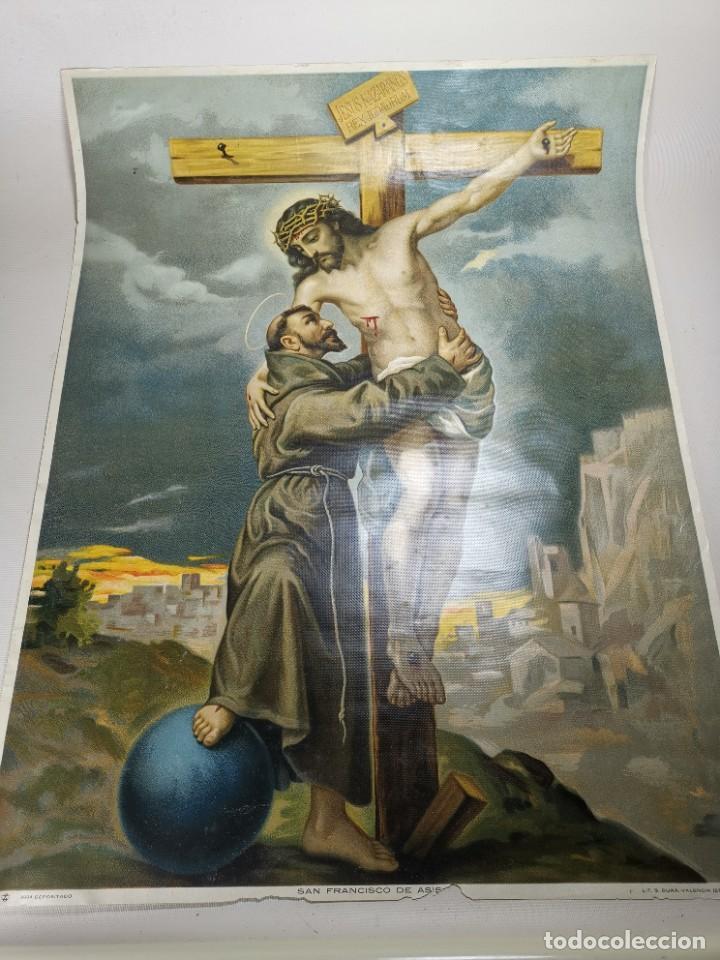 Arte: san francisco de asis - litografia durá - valencia - Foto 2 - 237391135