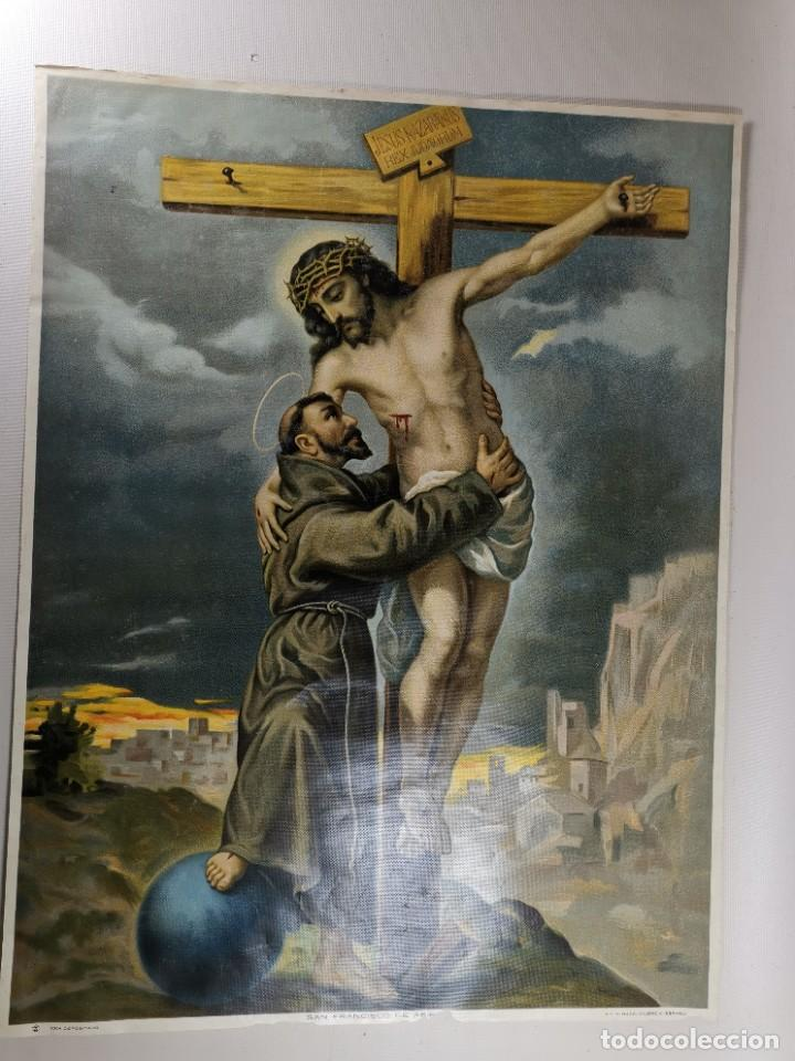 Arte: san francisco de asis - litografia durá - valencia - Foto 3 - 237391135