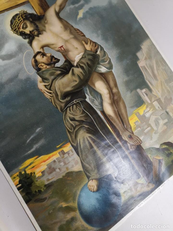 Arte: san francisco de asis - litografia durá - valencia - Foto 4 - 237391135
