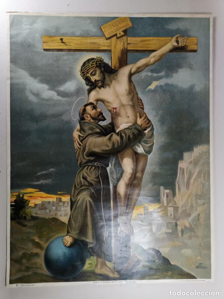 Arte: san francisco de asis - litografia durá - valencia - Foto 5 - 237391135