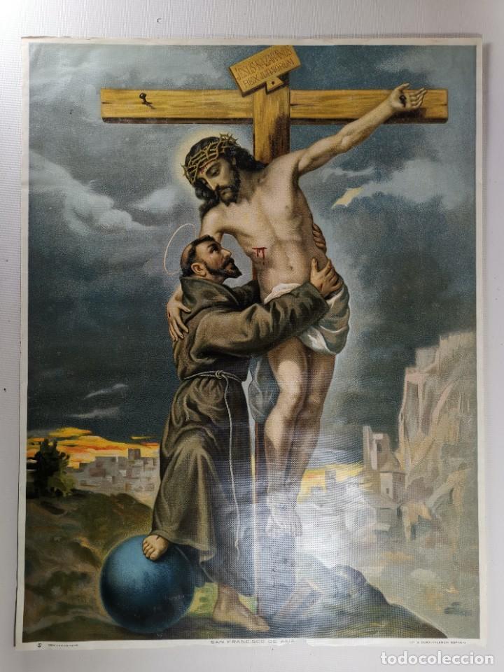 Arte: san francisco de asis - litografia durá - valencia - Foto 6 - 237391135