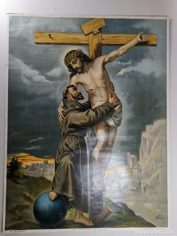 Arte: san francisco de asis - litografia durá - valencia - Foto 7 - 237391135
