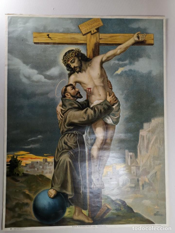 Arte: san francisco de asis - litografia durá - valencia - Foto 8 - 237391135