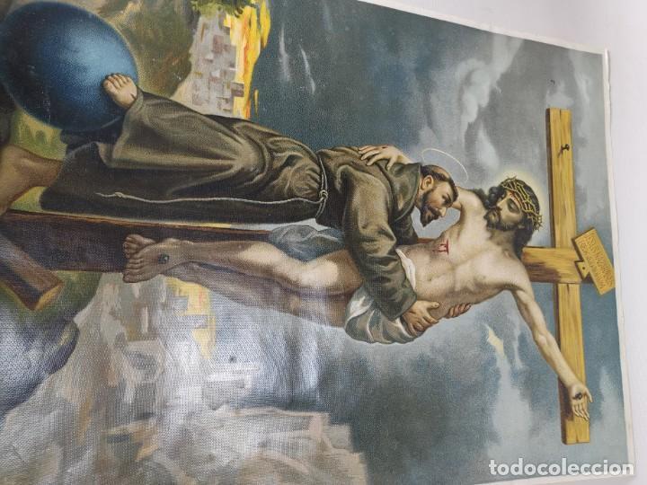 Arte: san francisco de asis - litografia durá - valencia - Foto 14 - 237391135