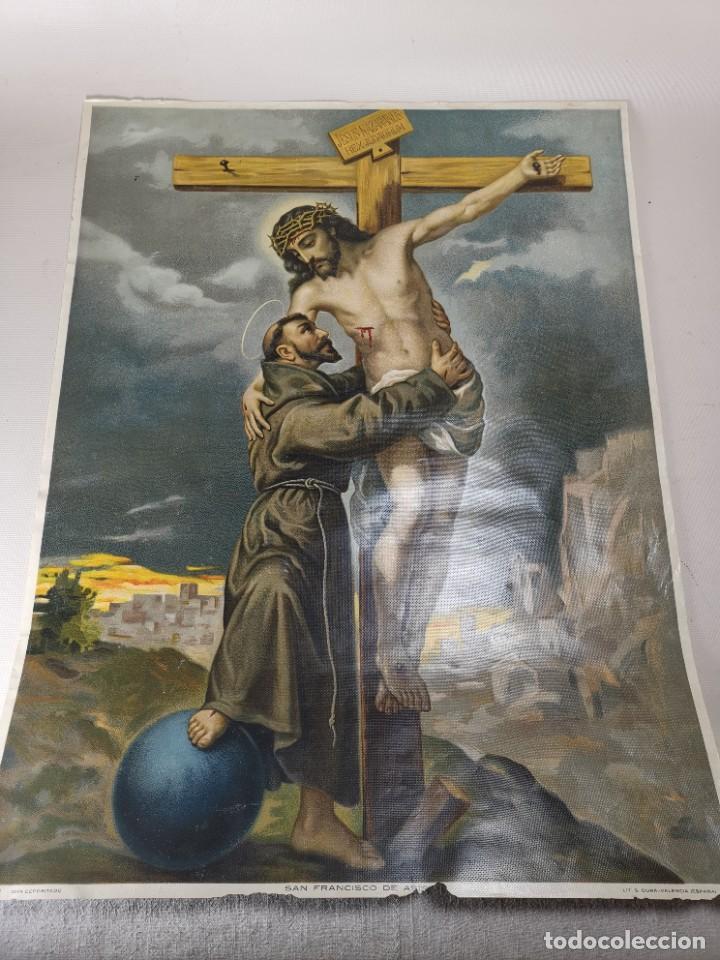 Arte: san francisco de asis - litografia durá - valencia - Foto 15 - 237391135