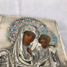 Art: ICONO RUSO DE VIRGEN CON NIÑO JESÚS.SIGLO XIX.. Lote 237666075