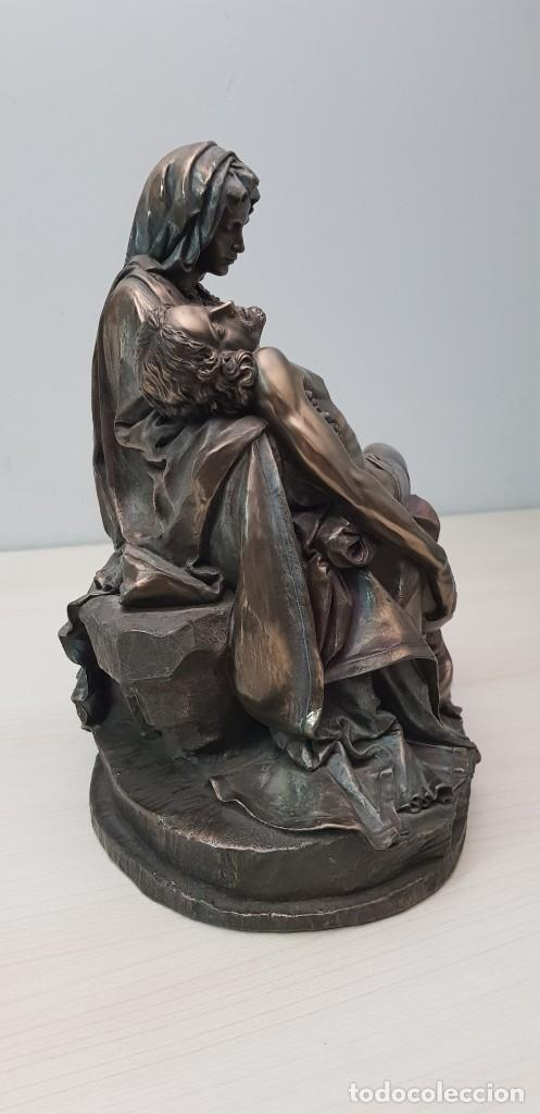 Arte: Piedad de Miguel Ángel, bronce ceramica figura escultura - Foto 3 - 237715690