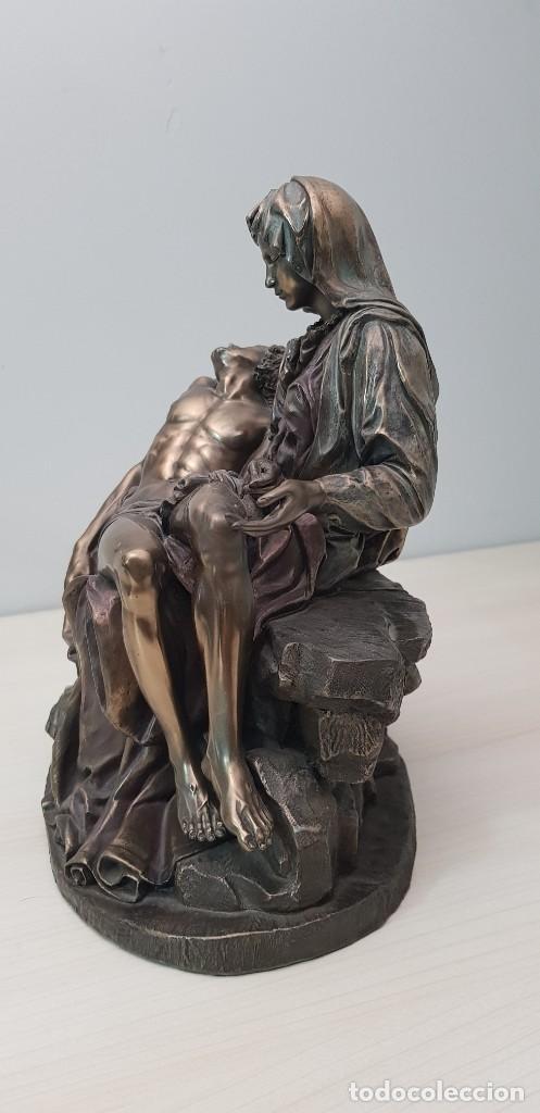 Arte: Piedad de Miguel Ángel, bronce ceramica figura escultura - Foto 4 - 237715690