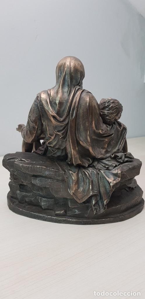 Arte: Piedad de Miguel Ángel, bronce ceramica figura escultura - Foto 5 - 237715690