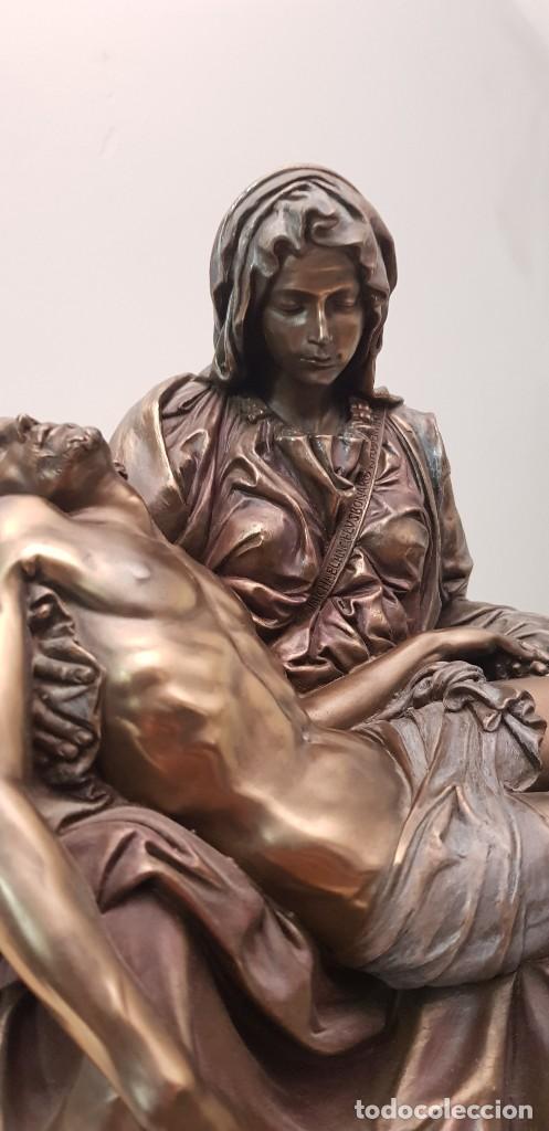 Arte: Piedad de Miguel Ángel, bronce ceramica figura escultura - Foto 6 - 237715690