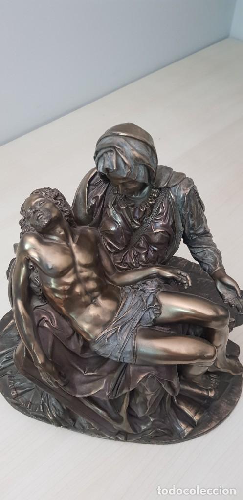 Arte: Piedad de Miguel Ángel, bronce ceramica figura escultura - Foto 7 - 237715690