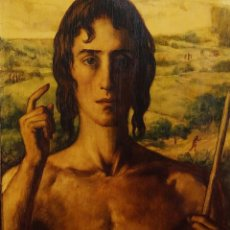 Arte: SAN JUAN BAUTISTA. FIRMADO. DANIEL SABATER. ÓLEO SOBRE MADERA, ESPAÑA. 1935. Lote 237852925