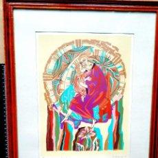 Arte: 1991 - MOSCÚ - ICONO RUSO CONTEMPORÁNEO - VIRGEN CON NIÑO. Lote 238102500