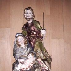 Art: FIGURA IMAGEN NACIMIENTO DE JESÚS REALIZADA EN PASTA DE MADERA Y ESCAYOLA. VER DESCRIPCIÓN. Lote 238270220
