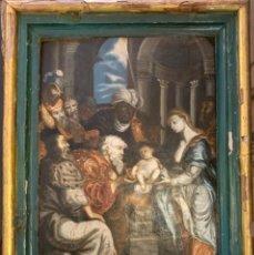 Arte: ADORACIÓN DE LOS REYES. TABLA HISPANO-FLAMENCA. SIGLO XVI. Lote 238476860