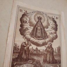 Arte: MILAGROSA IMAGEN DE MARIA SANTÍSIMA NUESTRA SEÑORA DE LA MERCEDES1893.M.HURTADO.. Lote 238529655