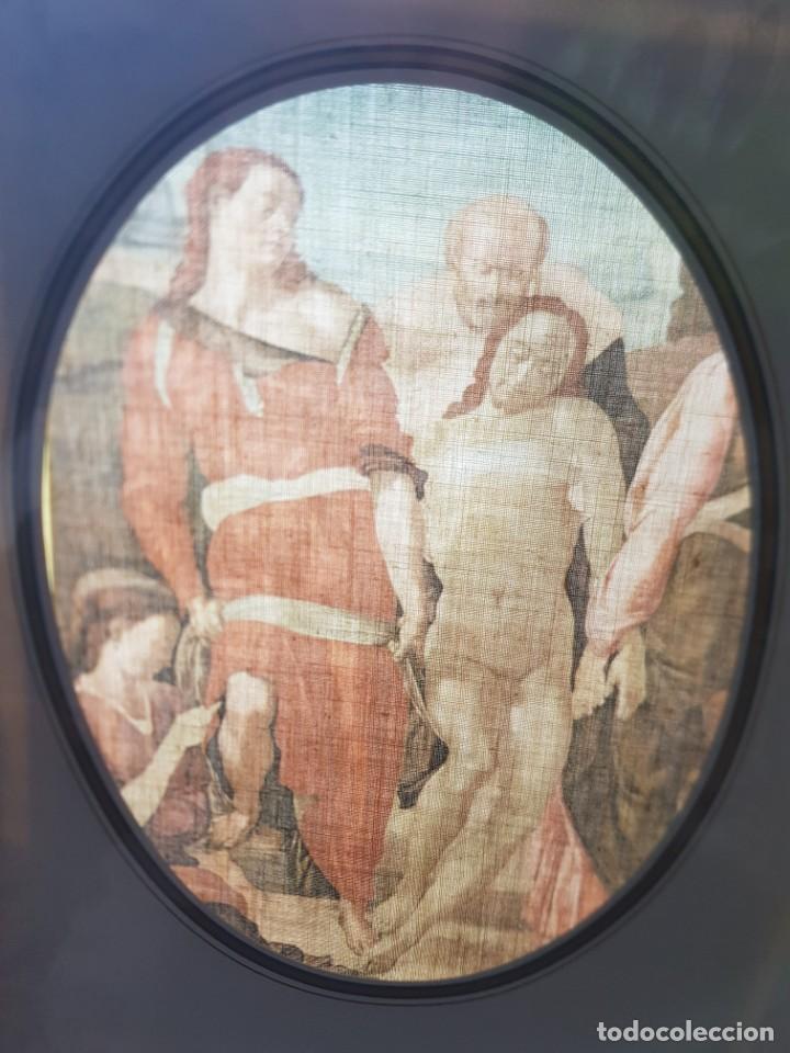 LAMINA TELA ENMARCADA DE ESTAMPACION PASION DE CRISTO (Arte - Arte Religioso - Pintura Religiosa - Otros)
