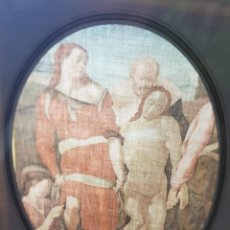 Arte: LAMINA TELA ENMARCADA DE ESTAMPACION PASION DE CRISTO. Lote 238689120