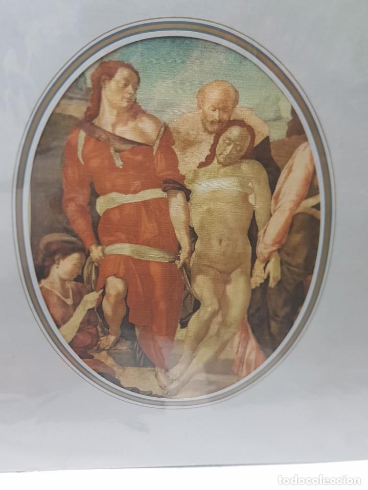 Arte: Lamina Tela Enmarcada de Estampacion Pasion de Cristo - Foto 2 - 238689120