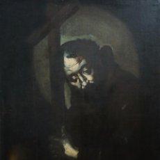 Arte: SAN FRANCISCO DE ASÍS. TENEBRISMO. ESC. DE JOSÉ DE RIVERA. S. XVII. Ó/L. TAMAÑO NATURAL.. Lote 238882075