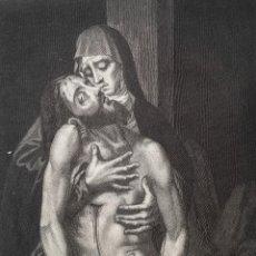 Arte: CRISTO DIFUNTO EN BRAZOS DE SU SANTA MADRE - LUIS DE MORALES - GRABADO AGUAFUERTE - CIRCA 1863. Lote 239550445