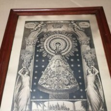 Arte: ANTIGUA LITOGRAFIA VIRGEN DEL PILAR DE 1905 ENMARCADA 73 X 55. Lote 239862800
