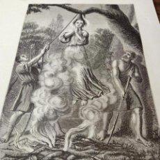 Arte: ANTIGUA BELLA ESTAMPA TIPO GRABADO - SANTA ZOA MÁRTIR ZOE DE ROMA. Lote 239994525