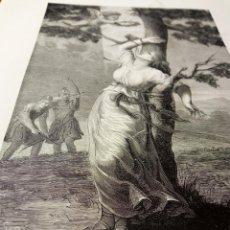 Arte: ANTIGUA BELLA ESTAMPA TIPO GRABADO - SANTA CRISTINA VIRGEN Y MÁRTIR. Lote 239996465